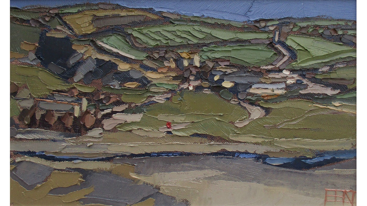 Ben Taffinder Church Cove Lizard I oil on canvas 33x21cm £550