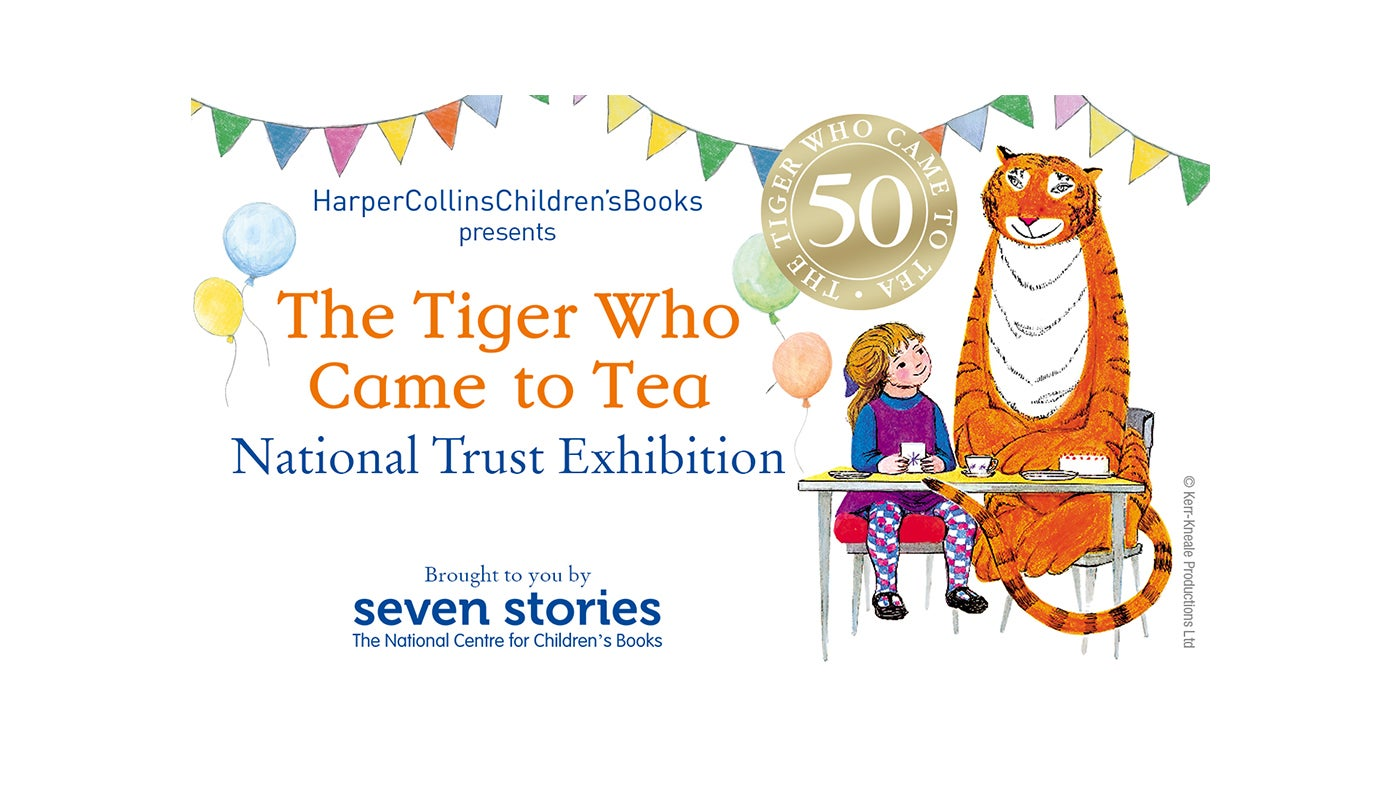 The Tiger Who Came to Tea exhibition banner