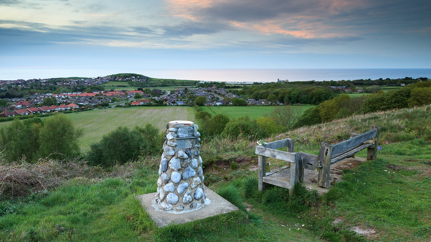 View from Stone Hill towards Beston Bump and the sea