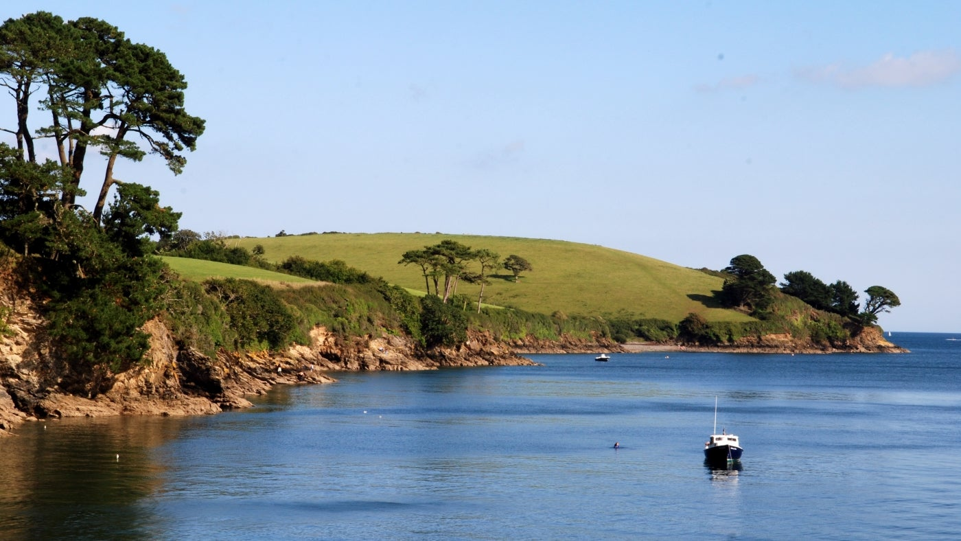 a view of the Helford River in summer