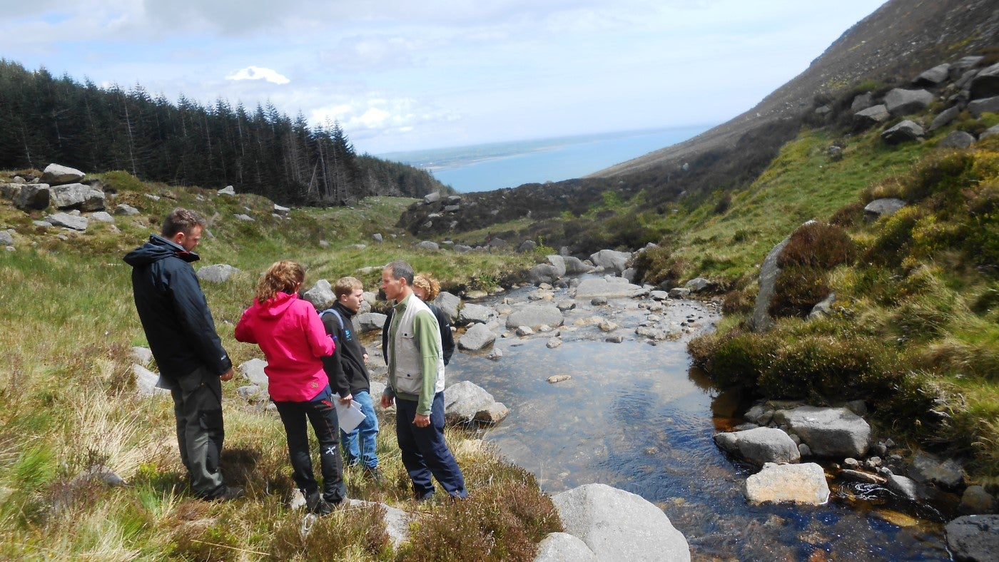 A team of volunteers at Murlough National Nature Reserve