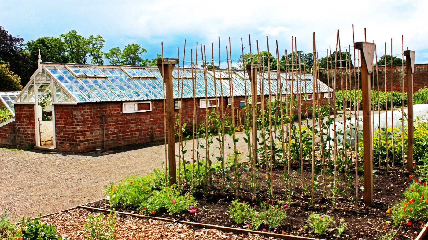 The Melon House in the Walled Garden at Attingham, Shrewsbury