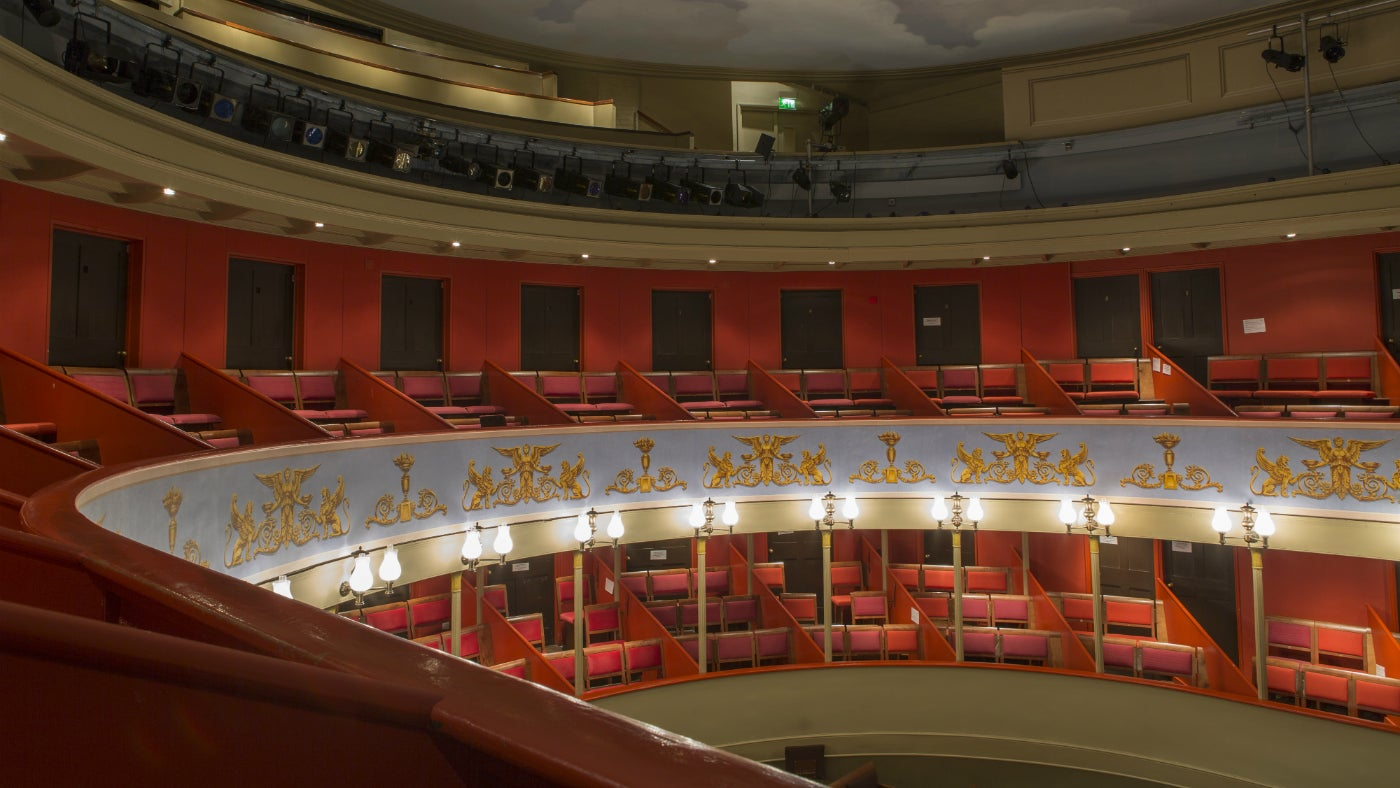 The auditorium of the Theatre Royal Bury St Edmunds