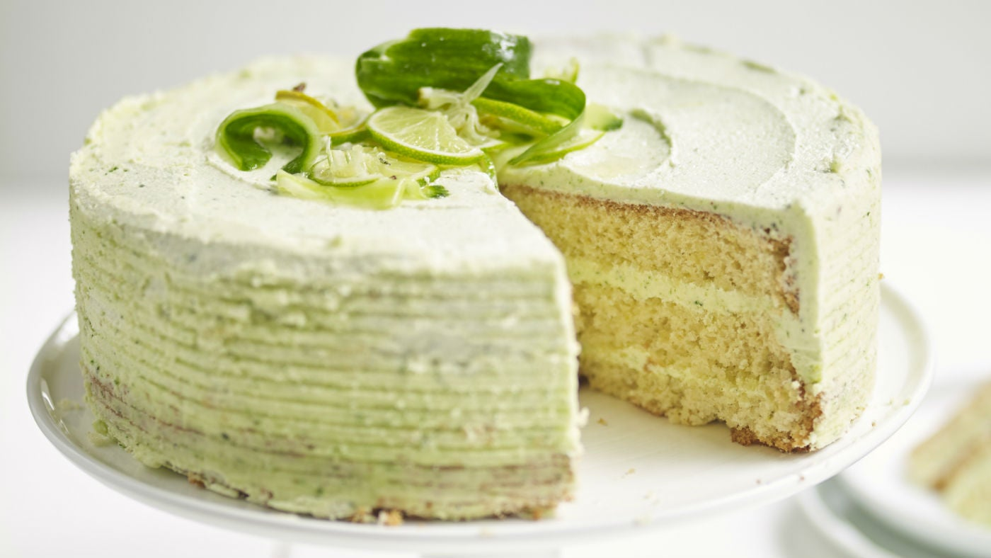 Gin and lime cake