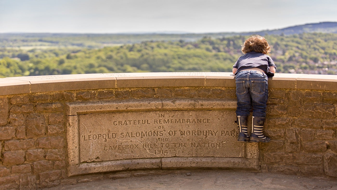 Young visitor enjoying the view
