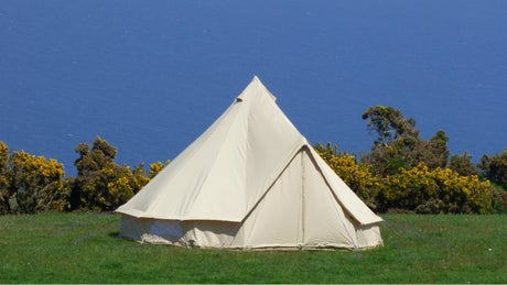 Bell tent at Kipscombe Farm Campsite, Devon