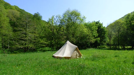 Bell tent at Heddon Valley Campsite, Devon