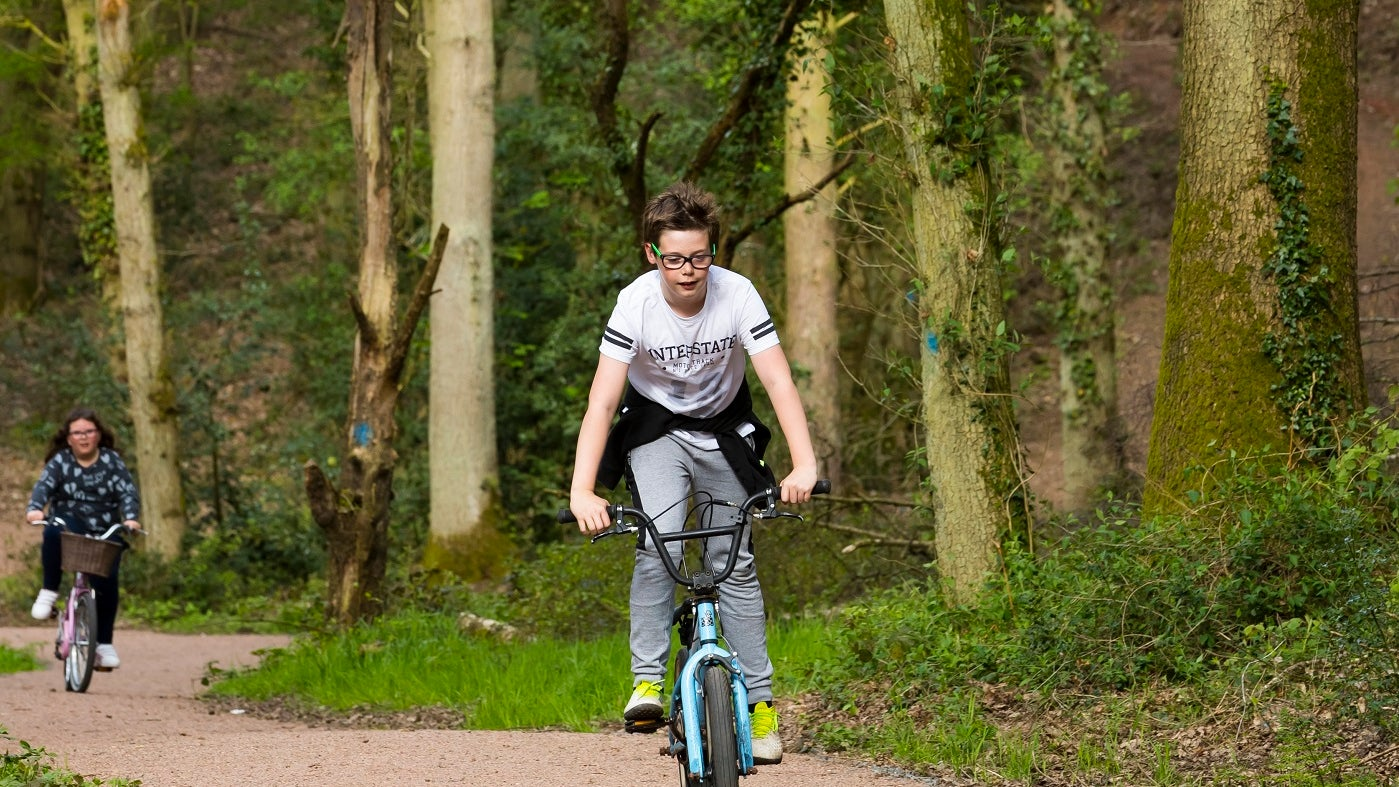 Dudmaston comer woods boy cycle explorer trail