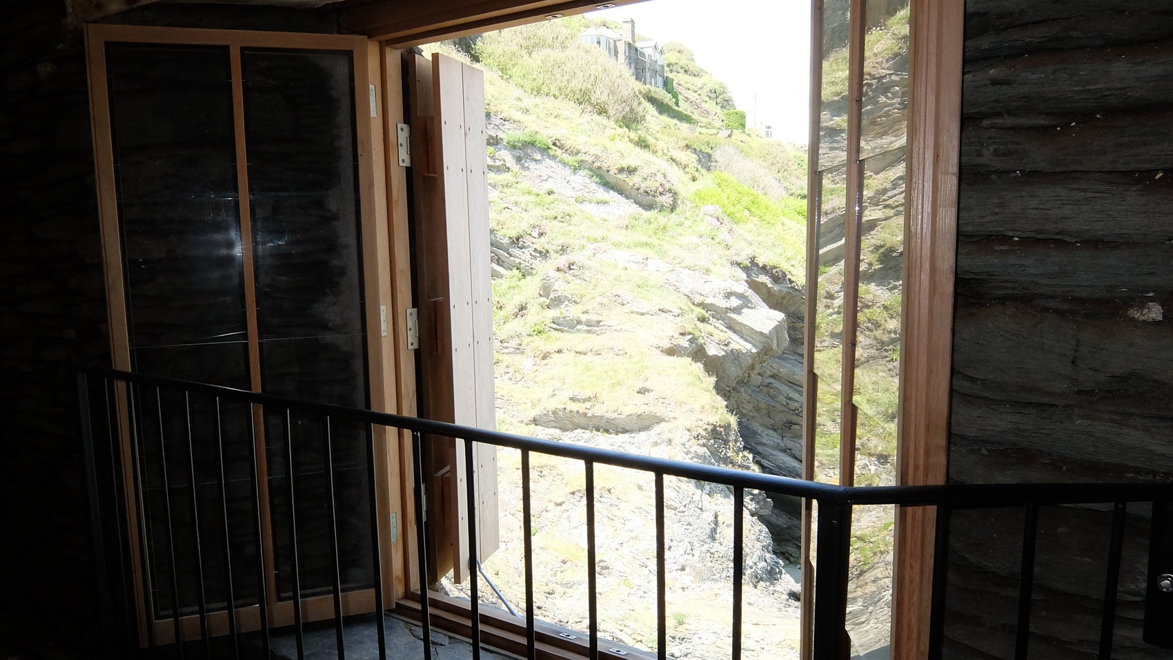 Looking out from the Old Net Loft, Polperro