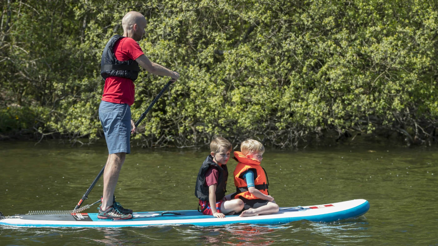 Paddle boarding on Ullswater