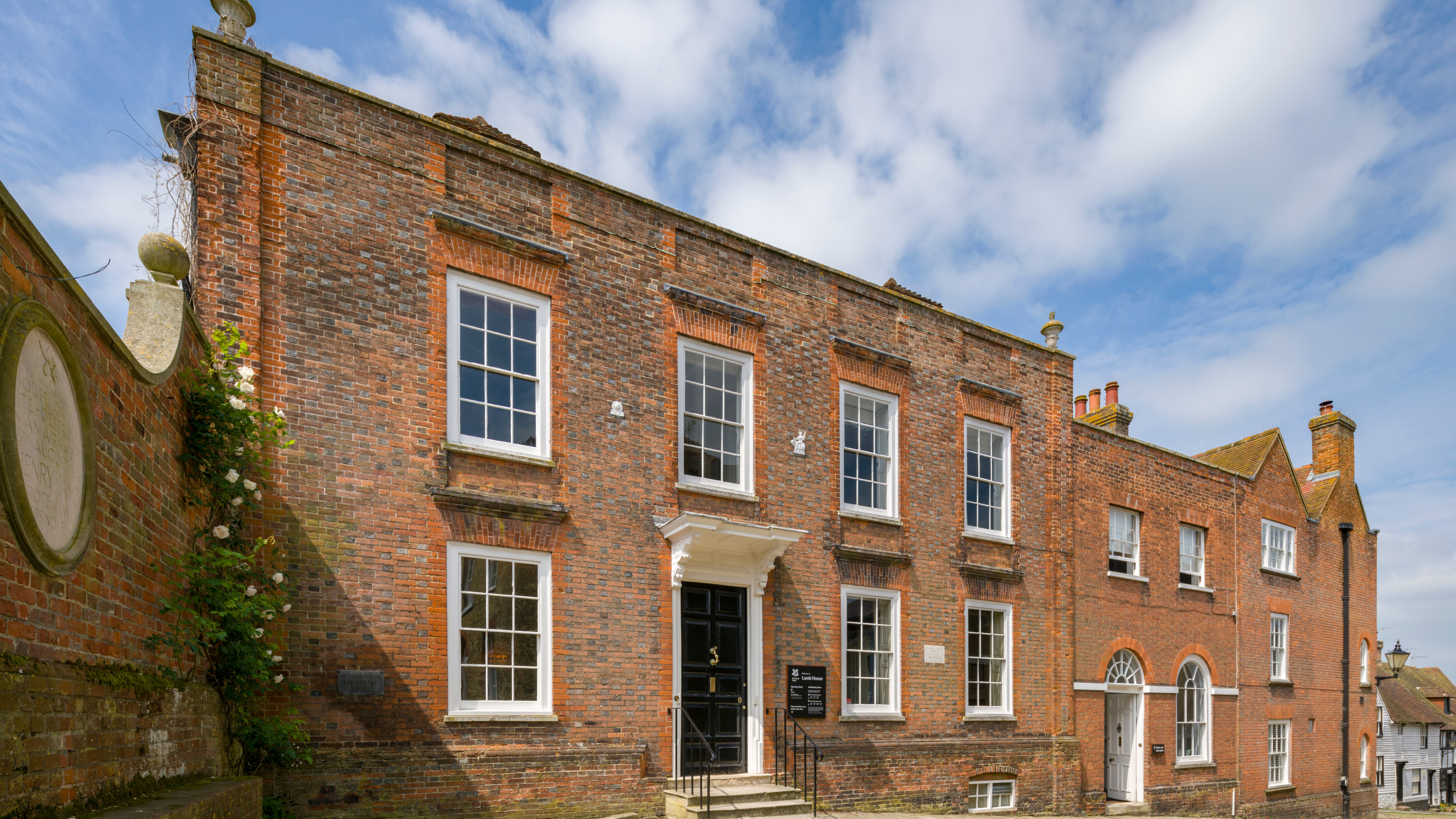 The facade of Lamb House in Rye