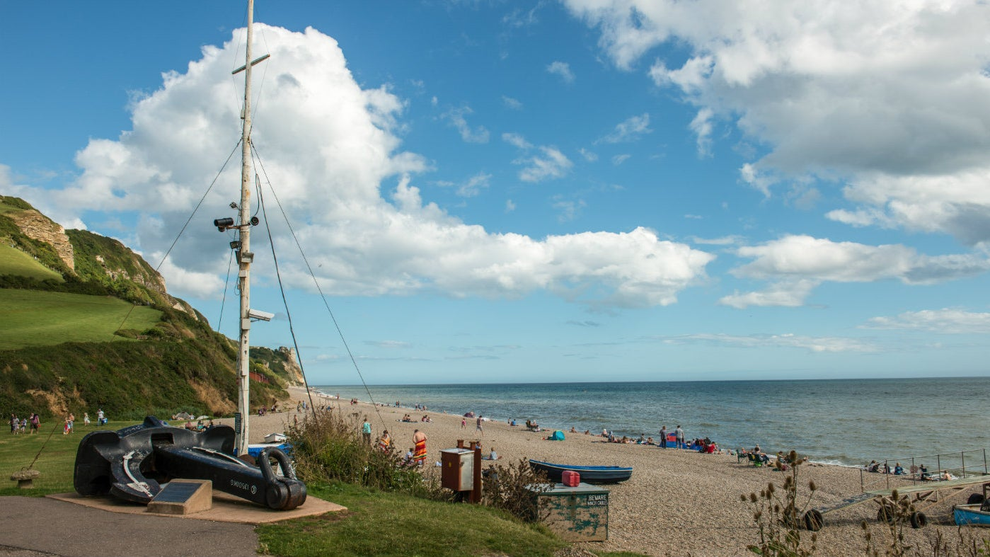 Branscombe beach or also known at Weston Mouth