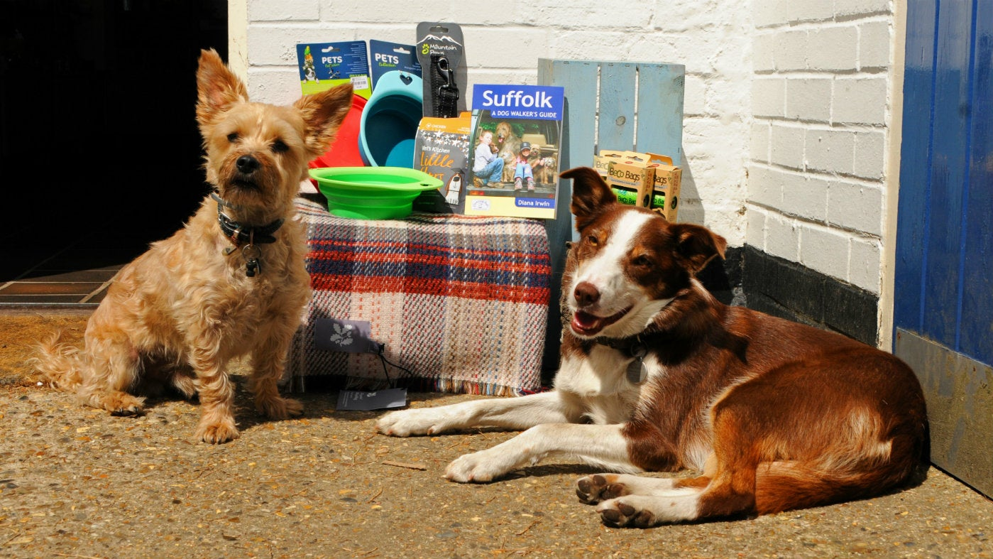 Products for dogs at Dunwich Heath shop