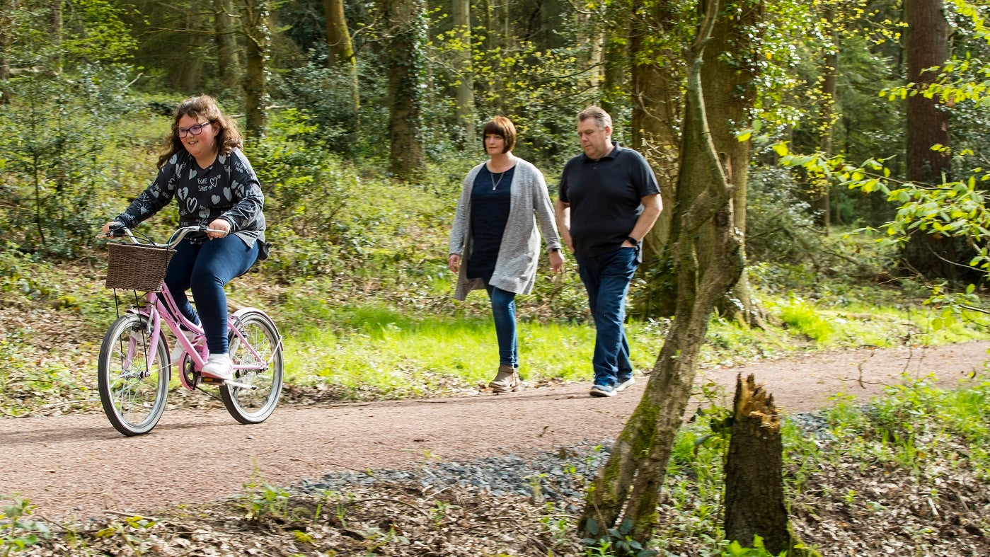 Dudmaston comer woods family cycling walking explorer trail
