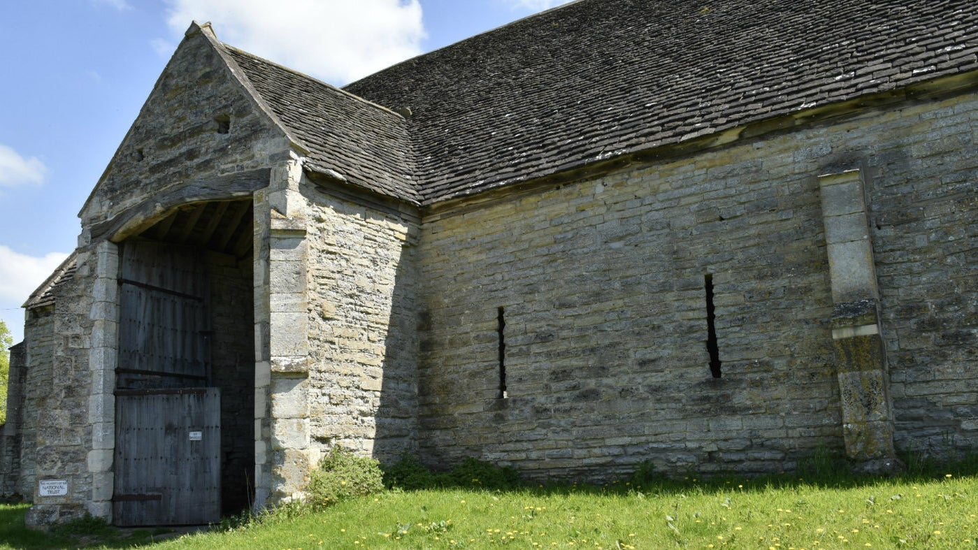 The barn was built by the canons of St. Augustine's Bristol