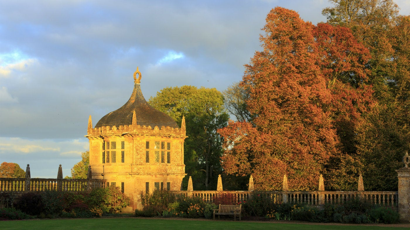 View of the Pavilion in autumn sunshine