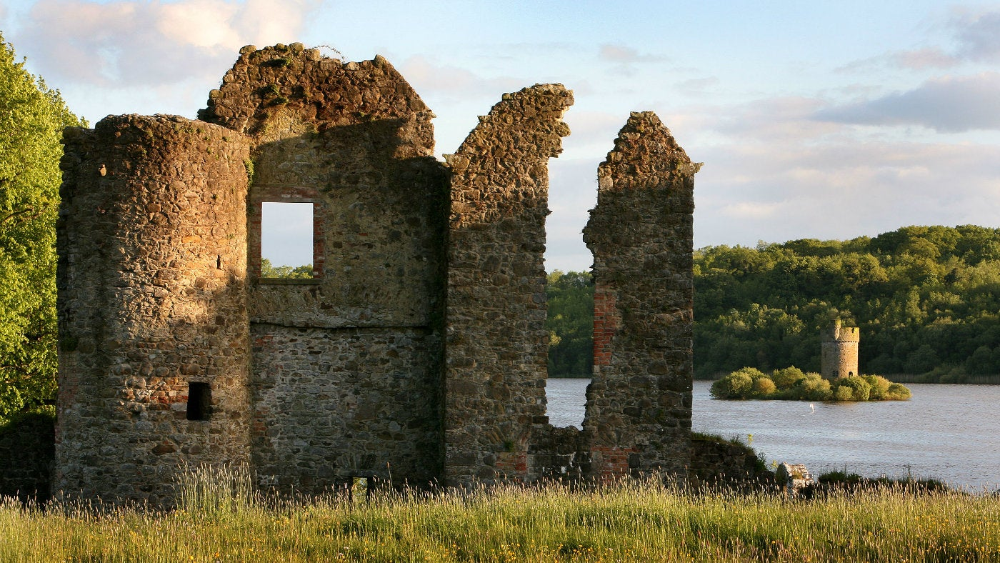The old castle ruins at Crom
