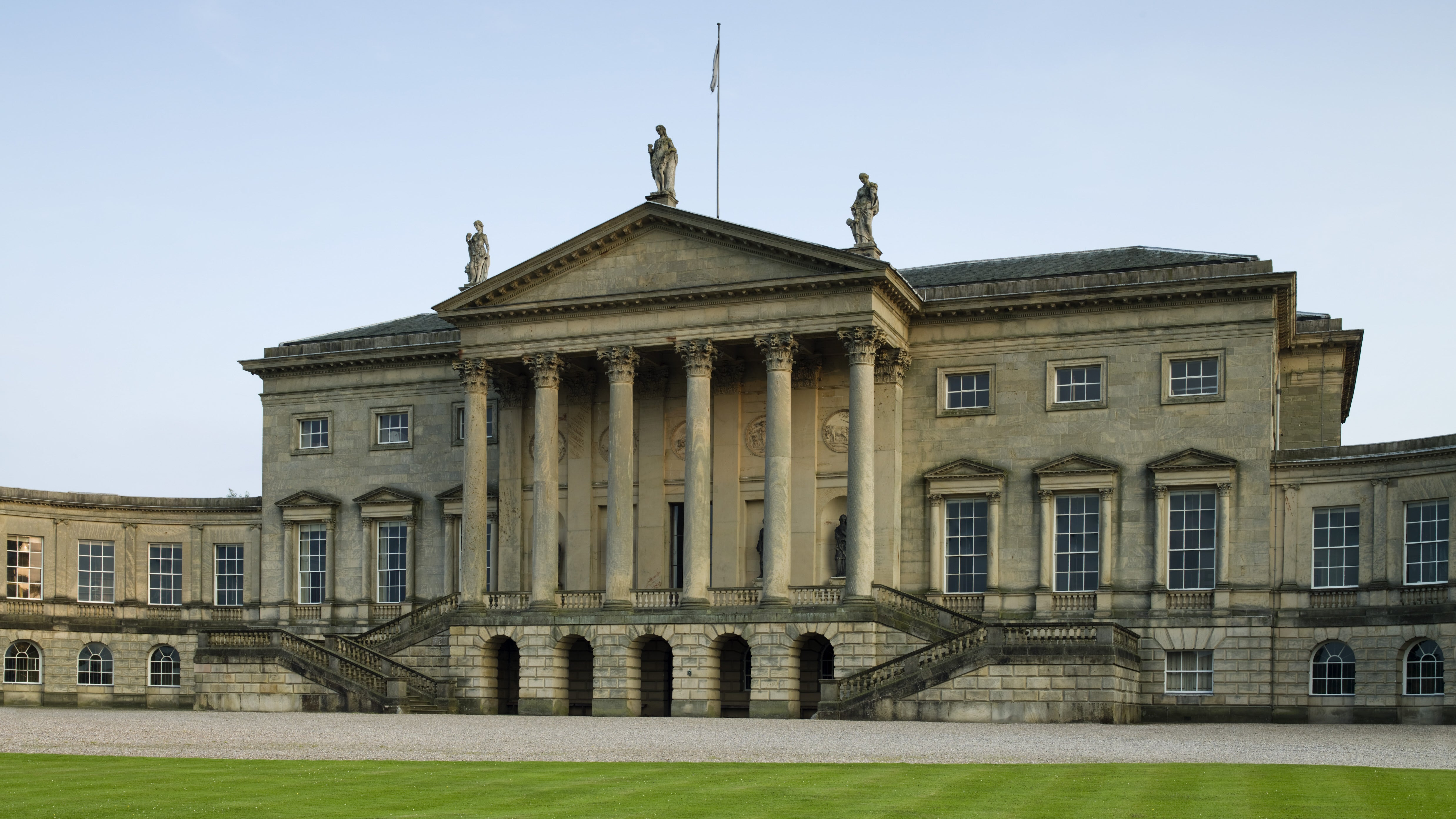 The north Palladian front of Kedleston Hall, Kedleston, Quarndon, Derbyshire
