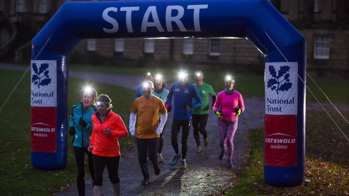Join hundreds of people in getting active after dark at Nostell Night Run, Wakefield