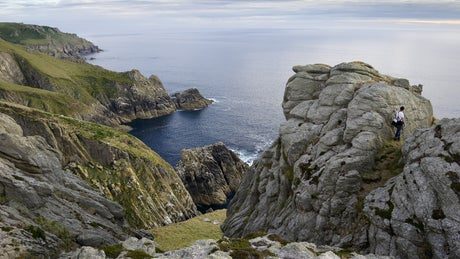 Granite stacks on Lundy Island, Devon