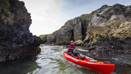 Sea kayaking off the Pembrokeshire coast