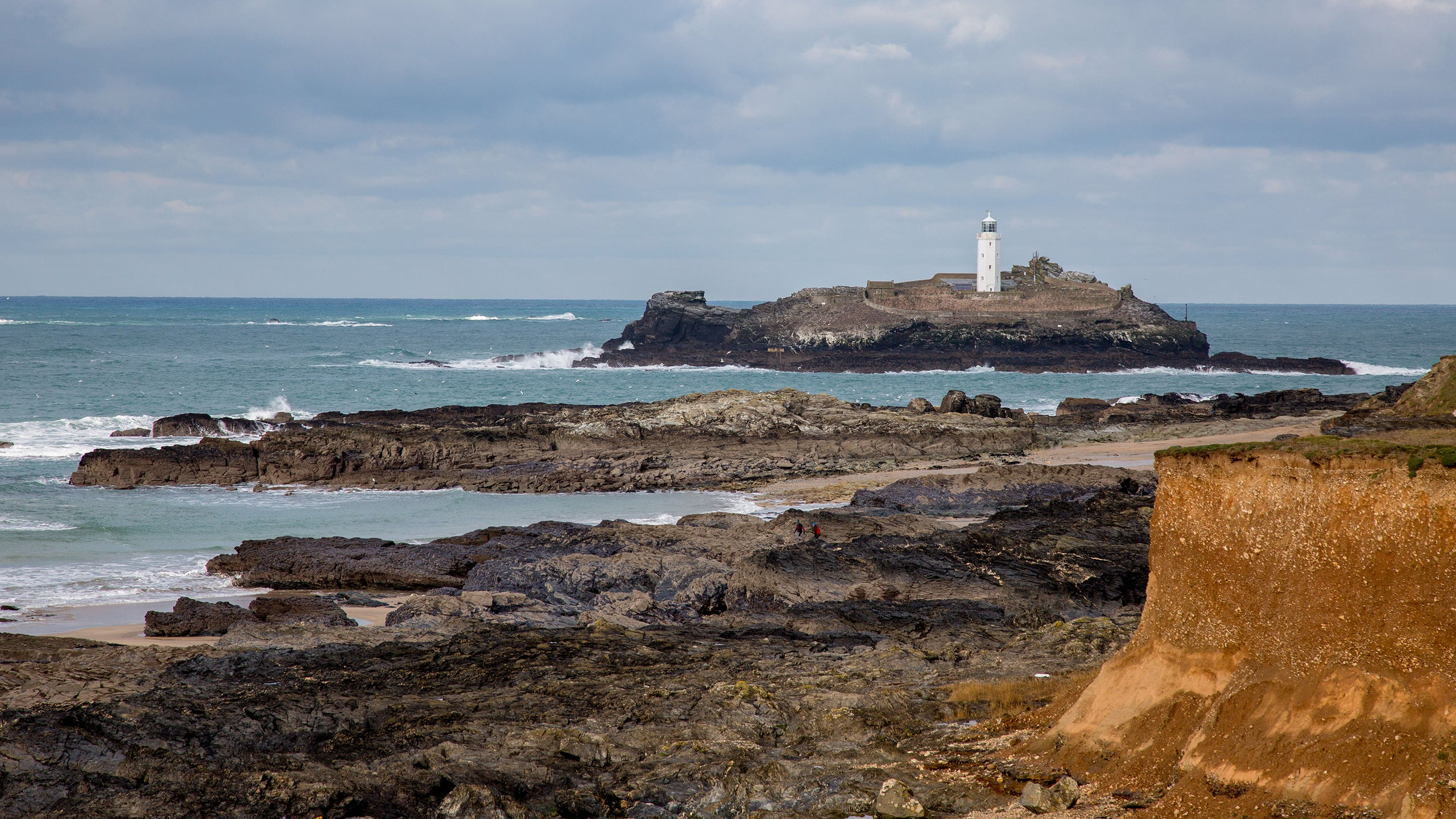 The lighthouse at Godrevy, Cornwall