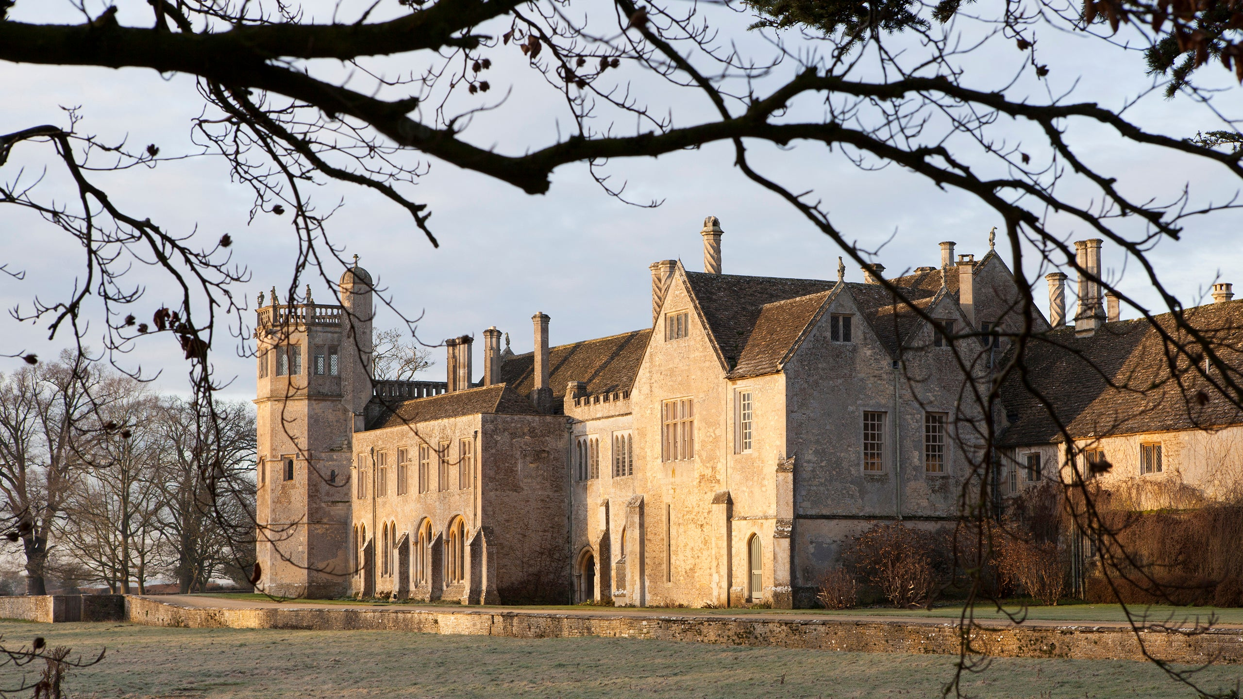 A frosty morning in late winter at Lacock Abbey, Wiltshire