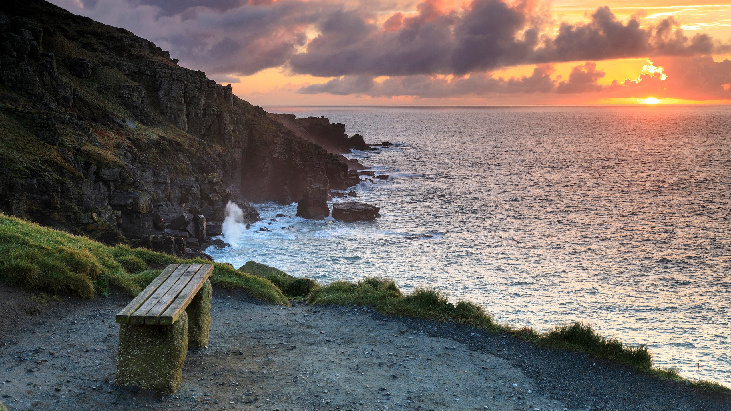 Sunset over Lizard Point, Cornwall