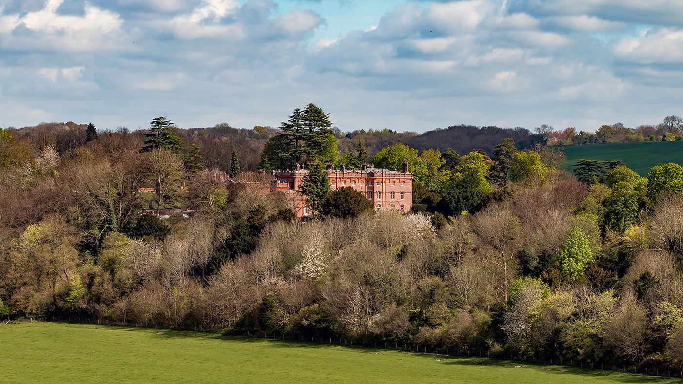 Hughenden Manor stands on a spur of Upper Chalk