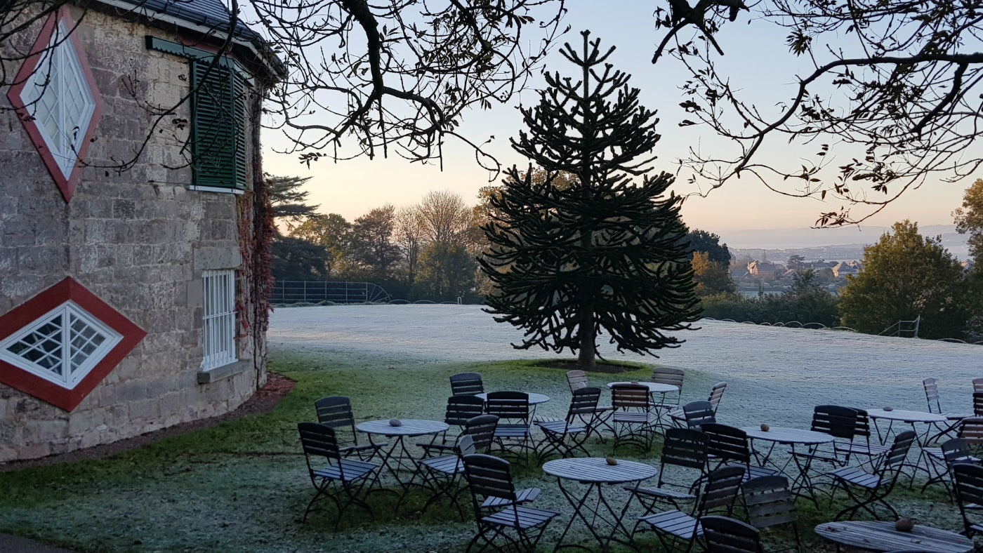A frosty morning at A la Ronde