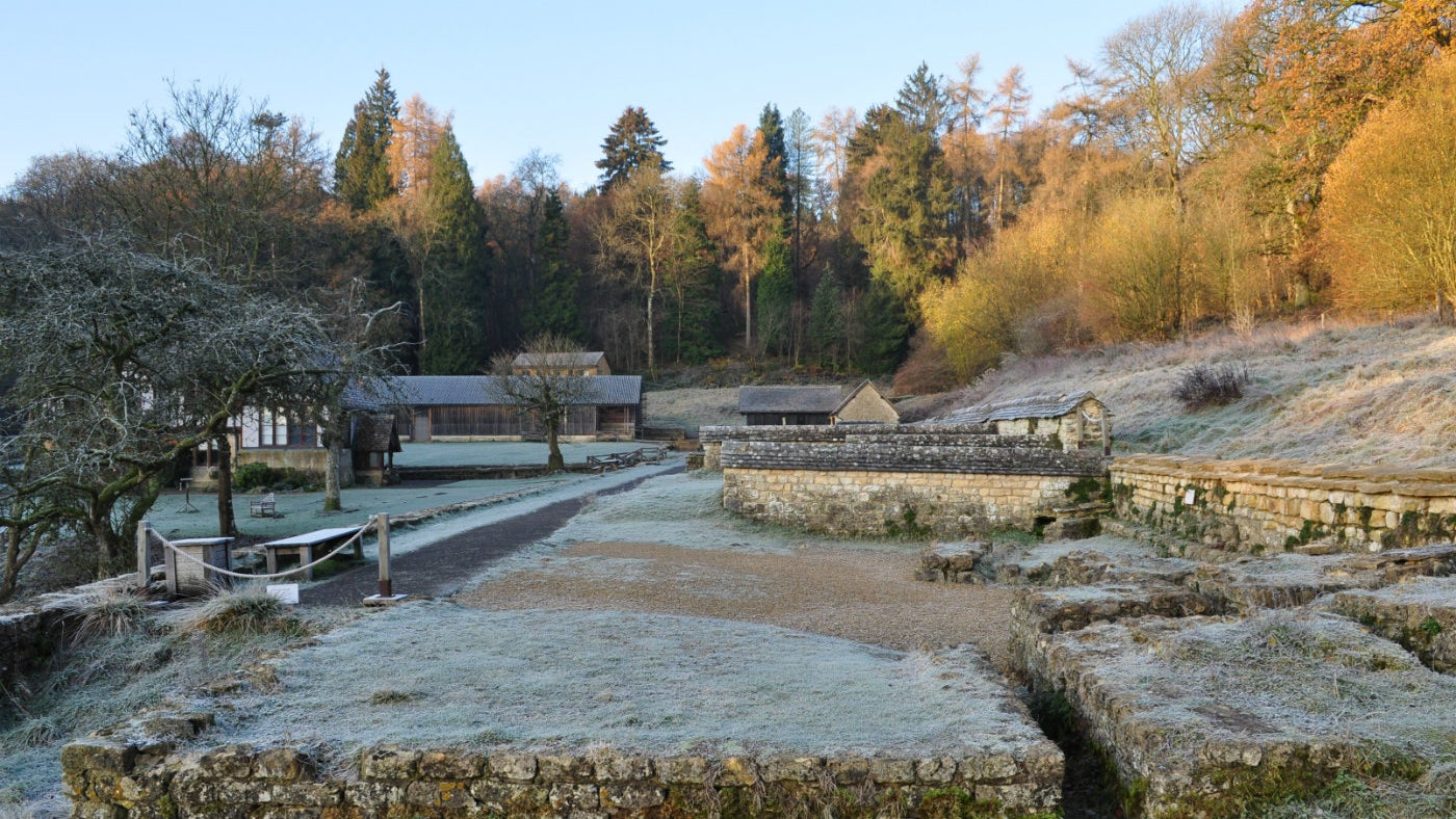 Winter mornings at Chedworth Roman Villa