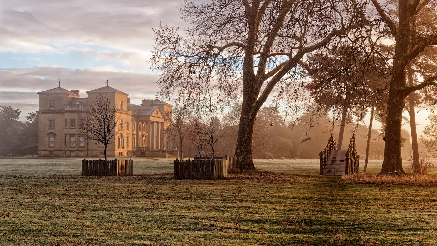 Croome court on a frostly morning