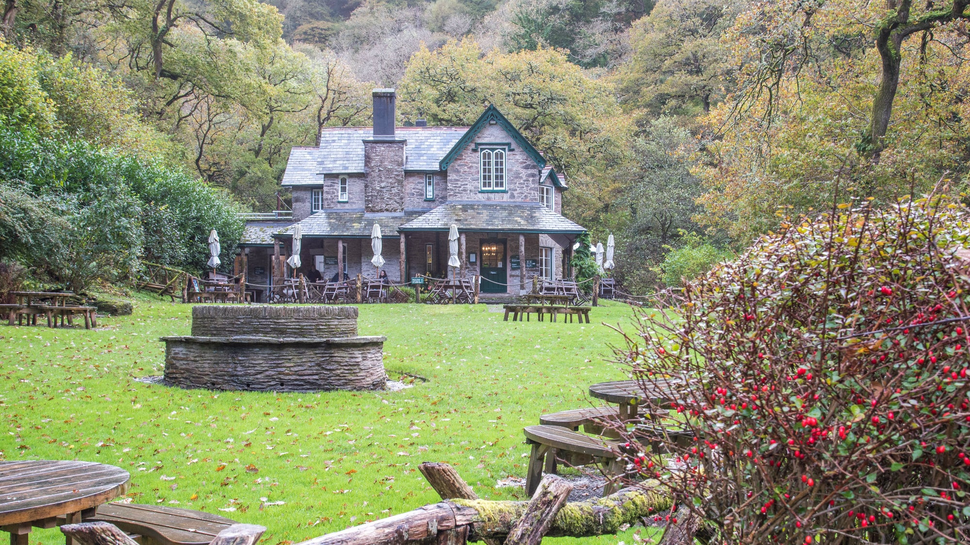 Watersmeet House in winter