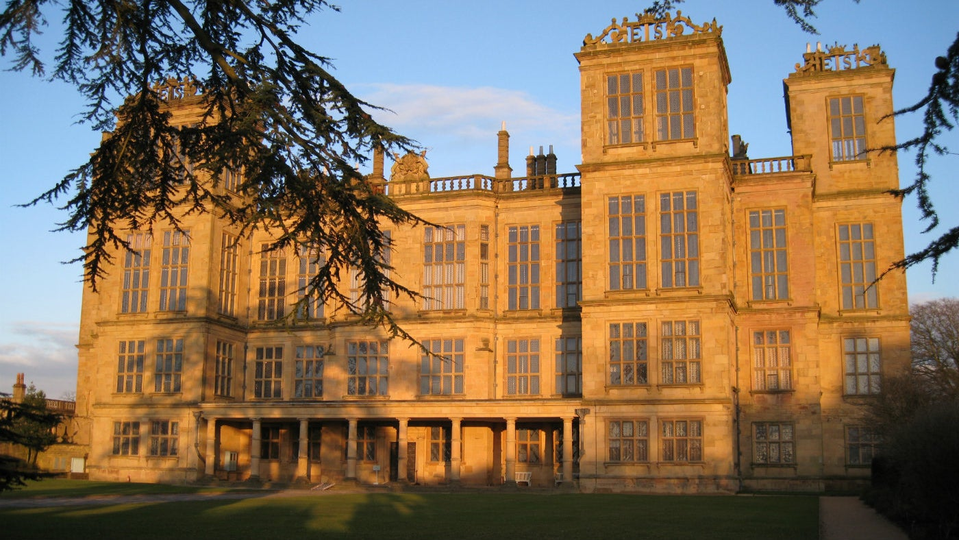 Hardwick Hall in the winter sun