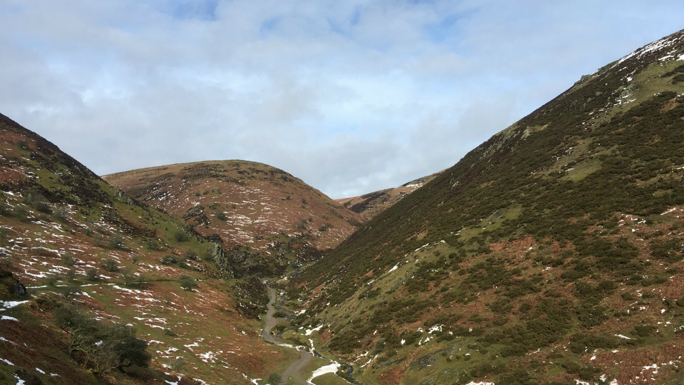 Winter in upper Carding Mill Valley