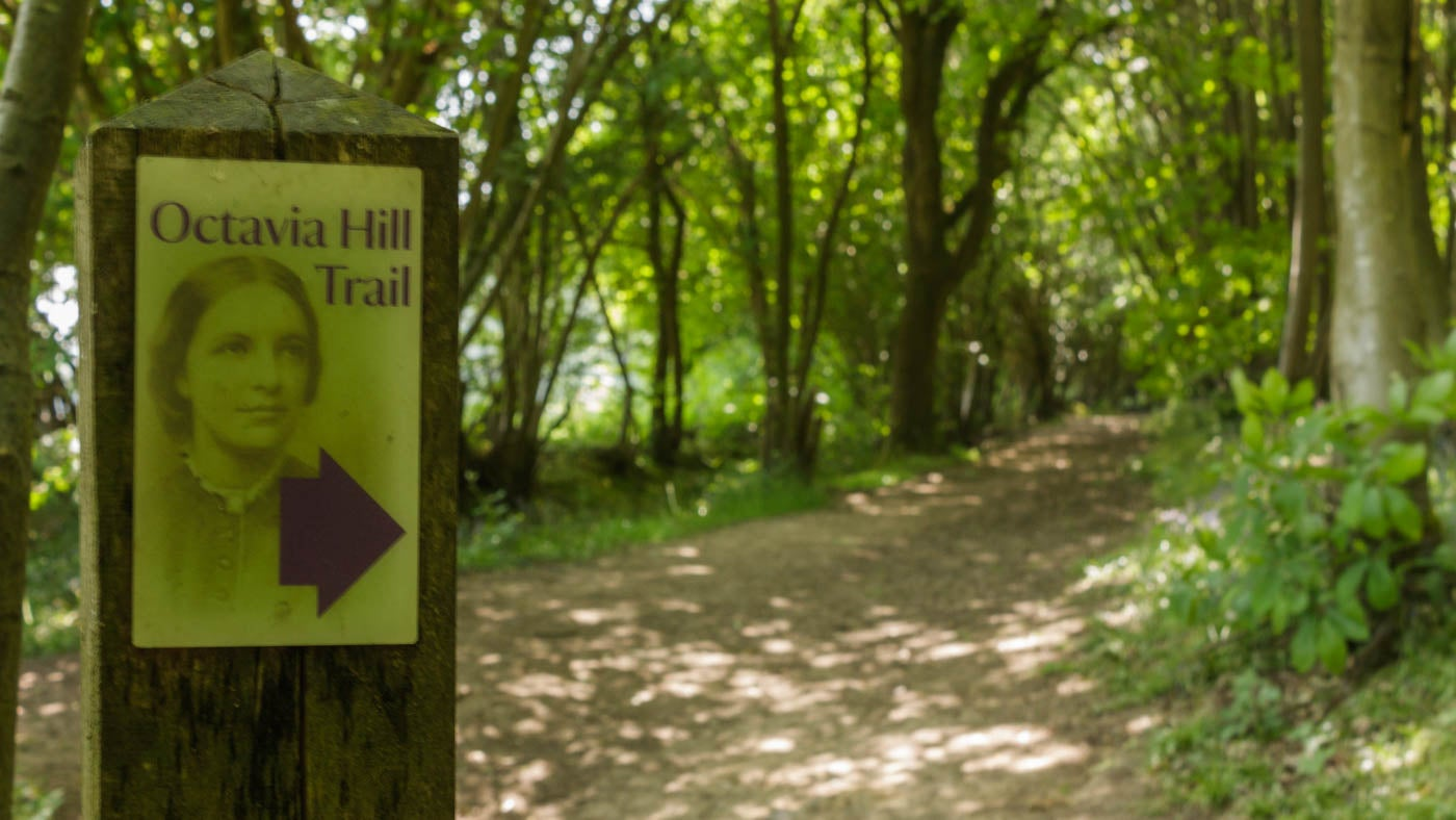 The Octavia Hilll trail is an easy walk