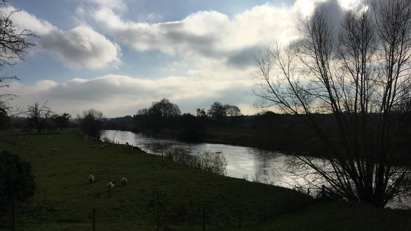 Dramatic winter skies above the River Wye