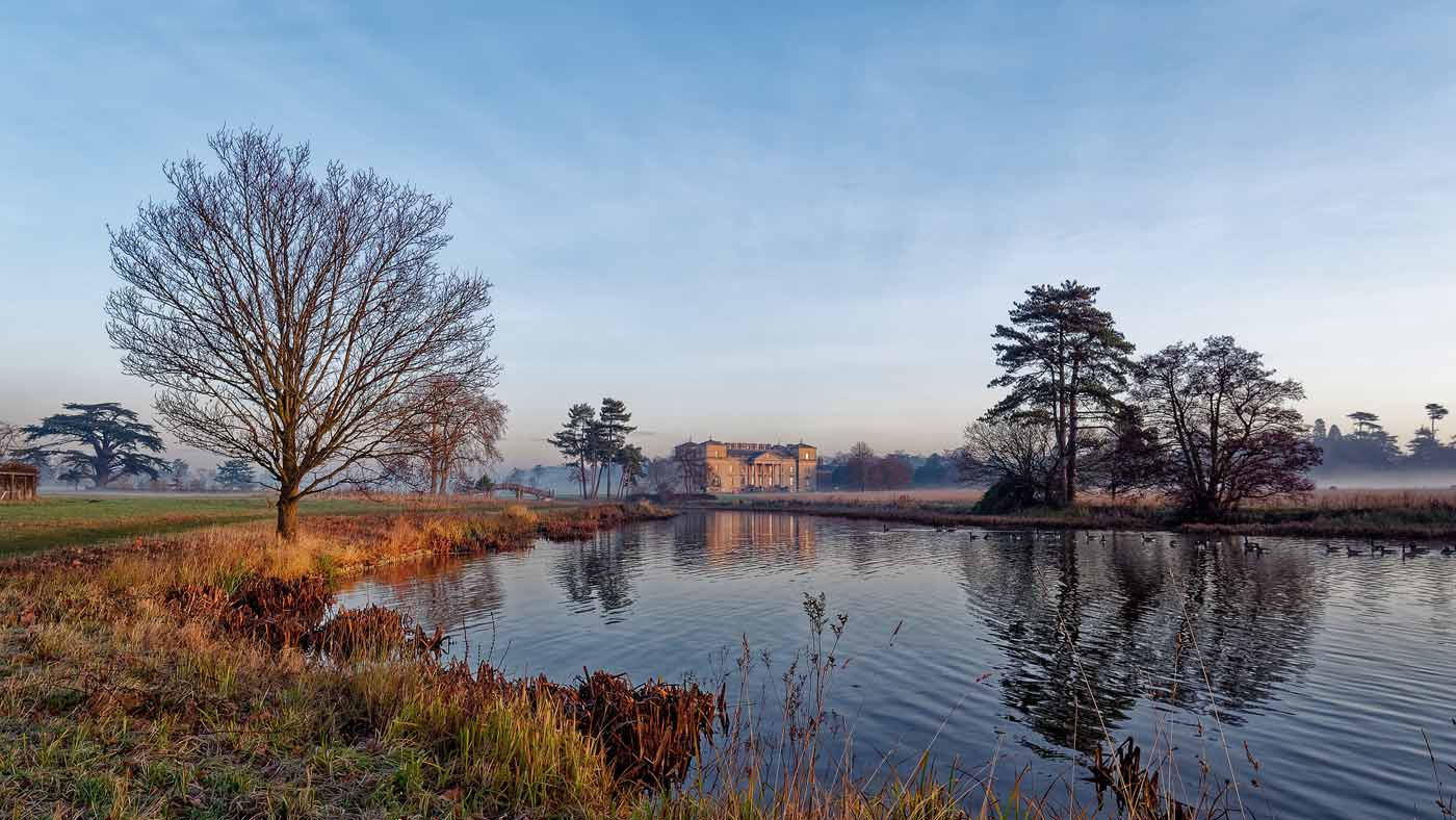 a winter morning at croome court