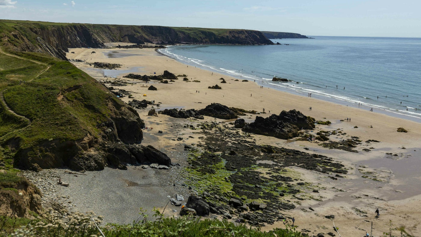 A view of Marloes Sands
