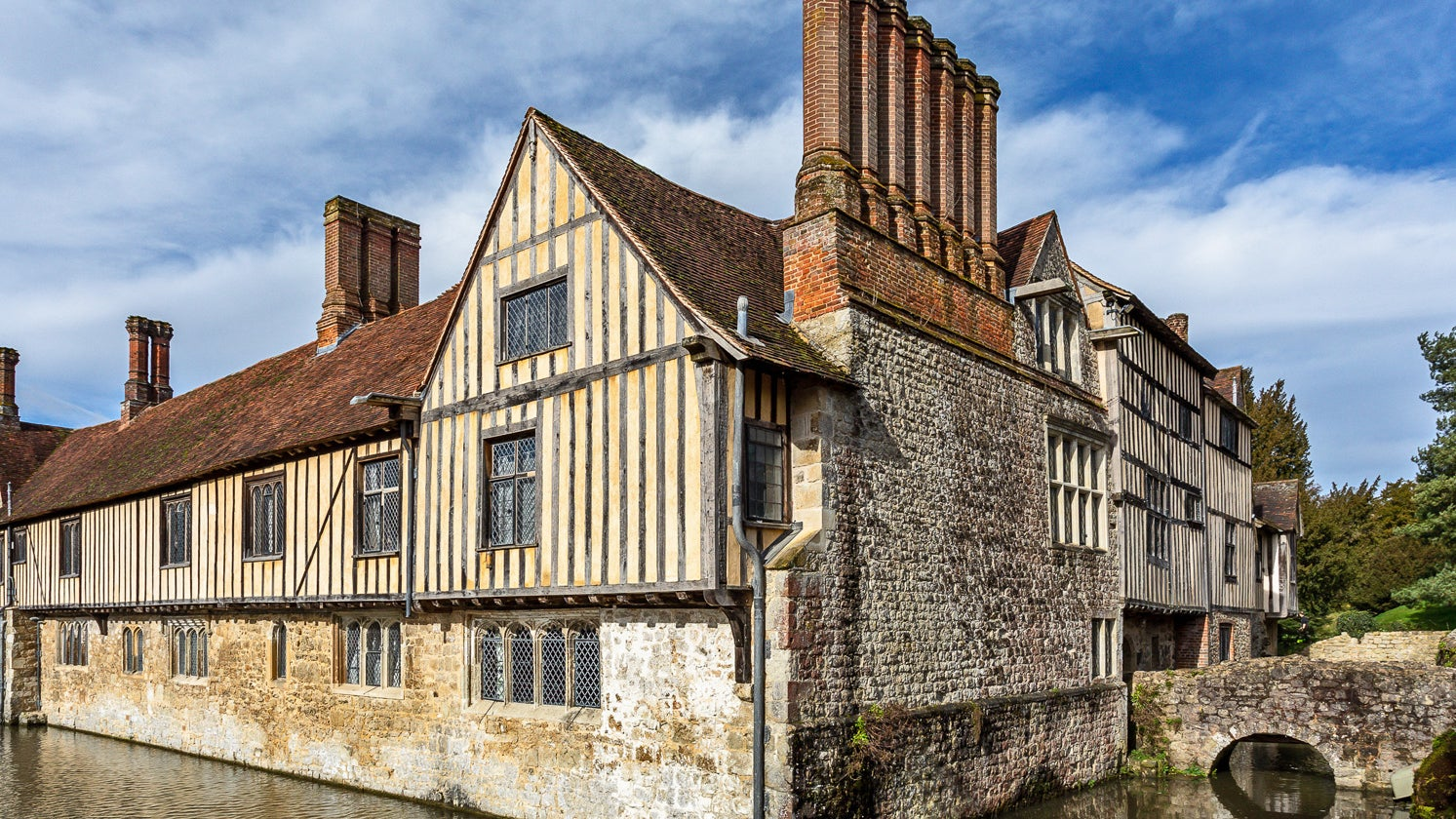 Ightham Mote in the spring