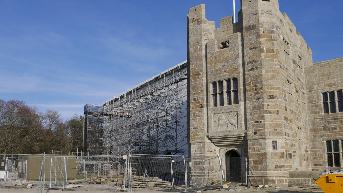 Castle Drogo is undergoing a conservation project to make it watertight.