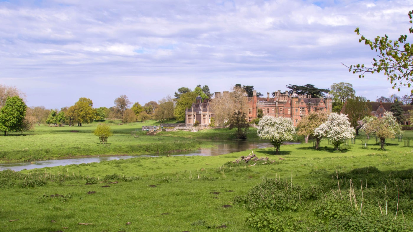 Enjoy beautiful views of Charlecote from the parkland this spring