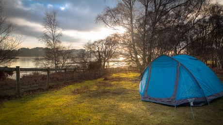 Camping on Brownsea Island, Dorset