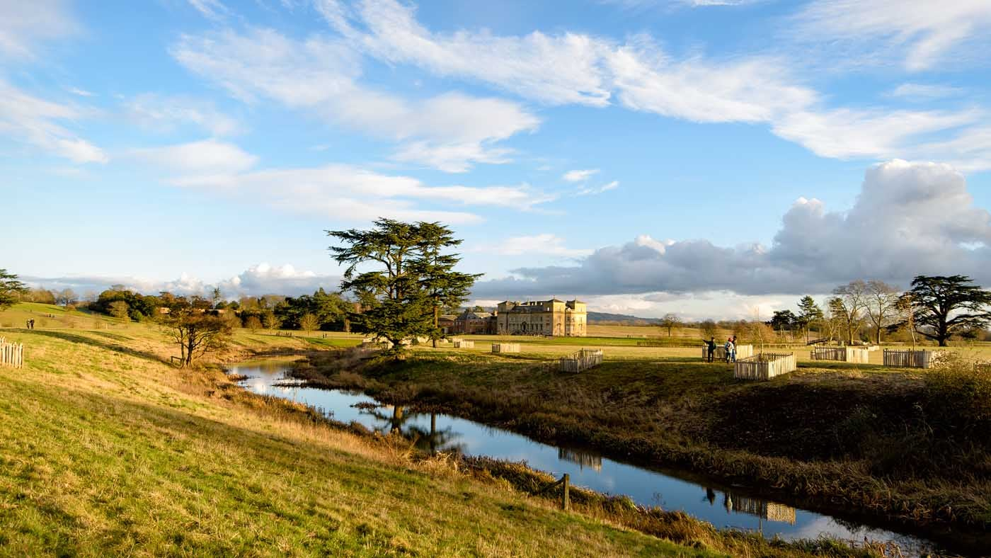 Croome court and parkland from the south west