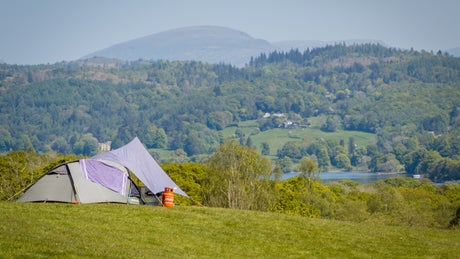Pitch your tent and enjoy the view of the Coniston fells.
