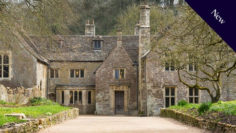 New cottage - The exterior of Horton Court, Gloucestershire