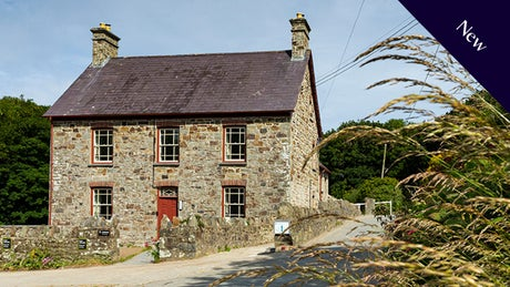 The exterior at Llanborth Farmhouse, Llandysul