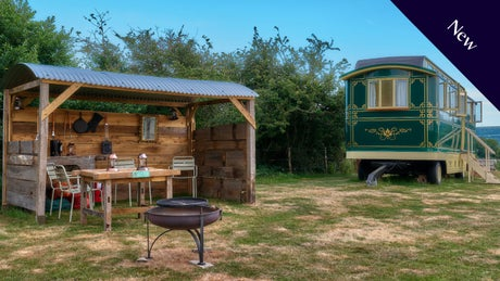 The exterior of The Showman's Wagon, Dorset