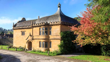 Exterior frontage of South Lodge, Montacute, Somerset