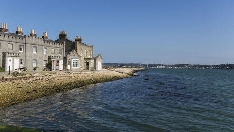 The exterior of Brownsea Island Cottages, Brownsea Island, Dorset